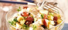 Omena-juustosalaatti Potato Salad, Potatoes, Ethnic Recipes, Food, Potato, Essen, Meals, Yemek, Eten