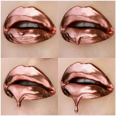 At last: Kylie Jenner FINALLY credited Vlada Haggerty who 'inspired' her Lip Kit artwork. but only after the make-up artist threatened to sue Lipstick Art, Lipstick Colors, Lip Colors, Lipsticks, Rose Gold Lipstick, Makeup Goals, Makeup Inspo, Makeup Inspiration, Makeup Trends