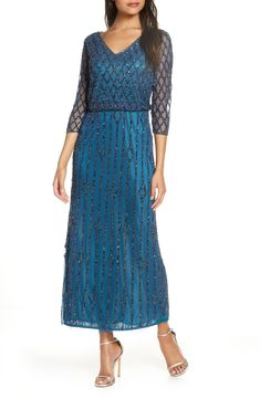 Looking for Pisarro Nights Beaded Blouson Gown ? Check out our picks for the Pisarro Nights Beaded Blouson Gown from the popular stores - all in one. Gatsby Dress For Sale, Great Gatsby Prom Dresses, 1920s Inspired Dresses, 1920s Fashion Dresses, 20s Dresses, 1920s Outfits, Prom Dresses For Sale, Flapper Dresses, Wedding Dresses