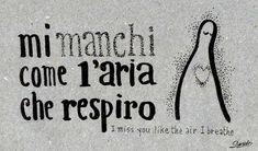 Learning Italian Language ~ mi manchi come l'aria che respiro (I miss you like the air I breathe) IFHN