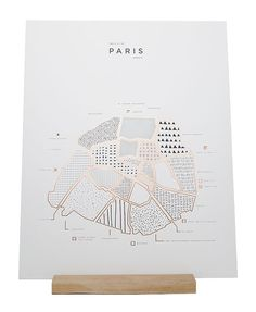ROAM by letterpress and shiny copper Foiled 16 x 20 map print of Paris, France. Printed on 100 LB. Map Design, Book Design, Print Design, Plan Paris, Paris New York, London, Paris Map, Paris France, Design Graphique