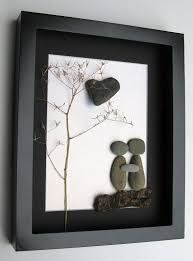 Personalized Engagement Gift and Unique Couples Art - Pebble Art - Personalized Engagement Gift and Unique Couples by SticksnStone Stone Crafts, Rock Crafts, Fun Crafts, Arts And Crafts, Simple Crafts, Camping Crafts, Clay Crafts, Paper Crafts, Caillou Roche