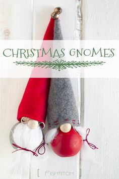 "I came across these adorably, tiny ""winter gnomes"" on Pinterest, of course.  The minute I saw them, I had to make them. You can find the original tutorial from Better Homes and Garden here. My loca..."
