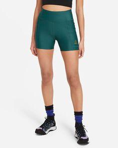 "Nike ACG Dri-FIT ADV ""Crater Lookout"" Women's Shorts. Nike.com Nike Acg, Nylons, Marathon, Biker, Shorts Nike, Teal Green, Second Skin, Fitness Models, Casual Shorts"