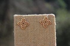 Peach Roots - Filigree Clover Stud Earrings, $7.50 (http://peachroots.com/filigree-clover-stud-earrings/)