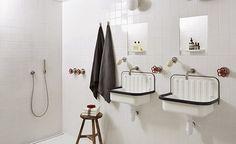 Beau lavabo cherche salle de bain rétro...Le lave main AG Stalhform 505 (quel nom barbare !) est MON coup de coeur de l'hiver. Avec son look industriel et sa taille mini, il se glisse dans toutes les salles de bain, quelles que soient leurs surfaces. Edité par la maison allemande Alape, déjà centenaire, il se marie idéalement avec une ambiance black & white. Et vous, il vous plaît ? , ,