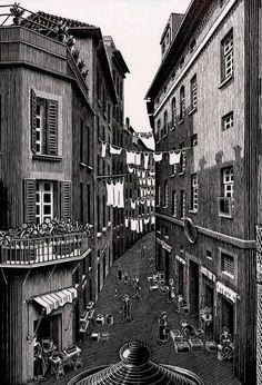 maurits cornelis escher - 1939-(detalle)