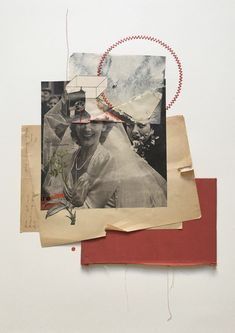 A nice mix of collage and embroidery by artist Rhed Fawell, currently based in Edinburgh, Scotland. Paper Collage Art, Color Collage, Collage Design, Collage Artists, Paper Art, Fabric Paper, Photomontage, Wedding Collage, Flower Phone Wallpaper