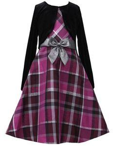 * GIRL PLUS SIZE DRESS * Fuchsia Silver Metallic Plaid Dress/Jacket Set FU8MS Bonnie Jean Girl Plus-Size Special Occasion Flower Girl Holiday BNJ Social Dress, Fuchsia Bonnie Jean,http://www.amazon.com/dp/B00GEJ6HAS/ref=cm_sw_r_pi_dp_M8yDsb0BZ1F2J571