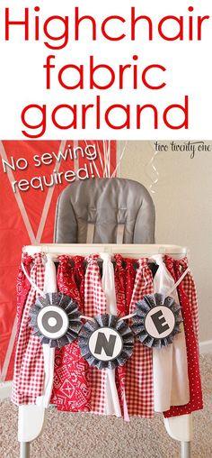 Highchair Fabric Garland