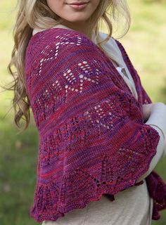 Ravelry: Romanesque Knit Shawl pattern by Emily Ross, aka knitterain.