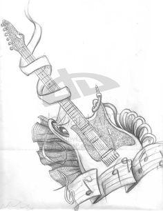 Mikes Guitar by PuNkPoP.deviantart.com on @deviantART