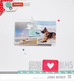 Hunde, dänischer Strand und eine Scrapbooking-Seite. - Janna Werner | Papiersalat