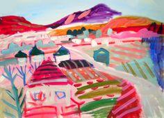 for kids_lanscape painting_  Shohei Hanazaki 花崎昇平_ shinden town_  watercolor on paper_ https://www.flickr.com/photos/shoudondon/6778517668/in/faves-94798923@N00/