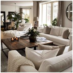 Cozy Living Rooms, Home Living Room, Apartment Living, Living Room Designs, Cozy Apartment, Living Room Neutral, Living Room Decorating Ideas, Living Room Themes, Living Room Styles