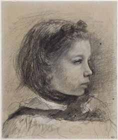 Edgar Degas - Giulia Bellelli, study for the Bellelli family portrait