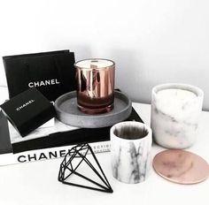 Marble + black + Rose gold-Pinterest @T A S H