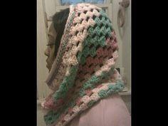 Cowl Crochet Tutorial - Granny on the Straight - Variation 4