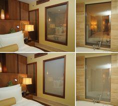 DreamGlass® used as privacy screen between room and bathroom, UAE.