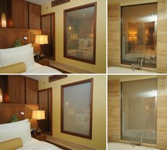 DreamGlass® used as privacy screen between room and bathroom, UAE.