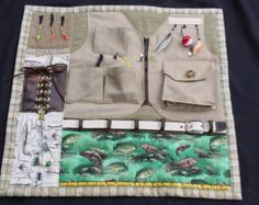 Fidgety Fisherman -- Busy Fingers Tactile Quilt