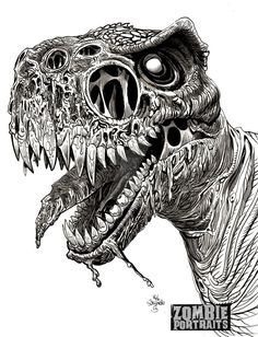 Another selection from Zombie Dinosaurs Week on www.zombieportraits.com The Zombie Raptor!