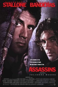 Assassins (1995) Directed & Produced by #RichardDonner Starring #SylvesterStallone #AntonioBanderas #JulianneMoore #Hollywood #hollywood #picture #video #film #movie #cinema #epic #story #cine #films #theater #filming #opera #cinematic #flick #flicks #movies #moviemaking #movieposter #movielover #movieworld #movielovers #movienews #movieclips #moviemakers #animation #drama #filmmaking #cinematography #filmmaker #moviescene #documentary #screen #screenplay #moviescenes Sylvester Stallone, Films Cinema, Cinema Posters, Film D'action, Film Movie, Assassin Movies, Stallone Movies, Thriller, 1995 Movies
