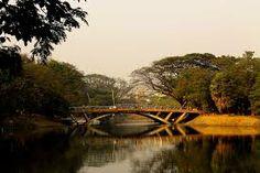 Dhanmondi lake bridge, Dhaka, Bangladesh.
