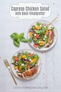 Caprese Chicken Salad with Pesto Vinaigrette!