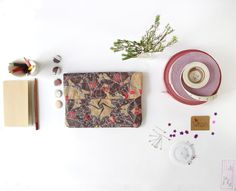 Scarlet & Frost Moths iPad Mini Paper Sleeve by www.thewrendesign.com