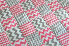 Design your own CHEVRON Quilted Blanket, Pick 2 colors to design your blanket #rileyblakedesigns #chevron