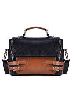 Contrast Cutout Detail Shoulder Bag #bag #handbag