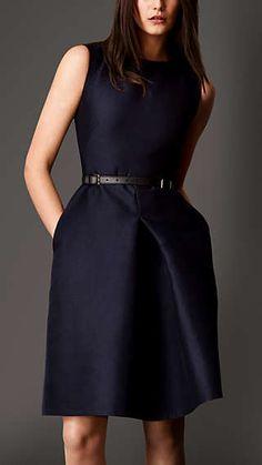 Cotton Silk Sculptural Dress
