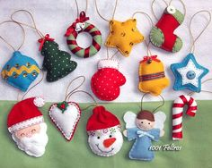 Christmas decoration models in felt - Christmas decoration models in felt - Felt Christmas Decorations, Felt Christmas Ornaments, Christmas Fun, Fabric Ornaments, Christmas Projects, Felt Crafts, Holiday Crafts, Christmas Sewing, Handmade Christmas