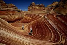 The Wave. Between Arizona and Utah (USA) ~ Made from 190 million-year-old sand, which turned into stone.