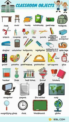School goodies vocabulary English Fun, English Reading, English Writing, English Tips, English Study, English Words, English Lessons, English Grammar, Learn English