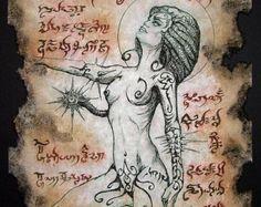 CTHULHU SEAL Necronomicon page occult demon magick dark spirit vampire horror