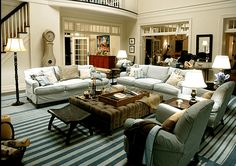 Something's Gotta Give Movie Set Decor - updated! Living Room Furniture Layout, Living Room Colors, Living Room Sets, House Furniture, Living Area, Coaster Furniture, Something's Gotta Give House, Movie Set Decor, Hm Home