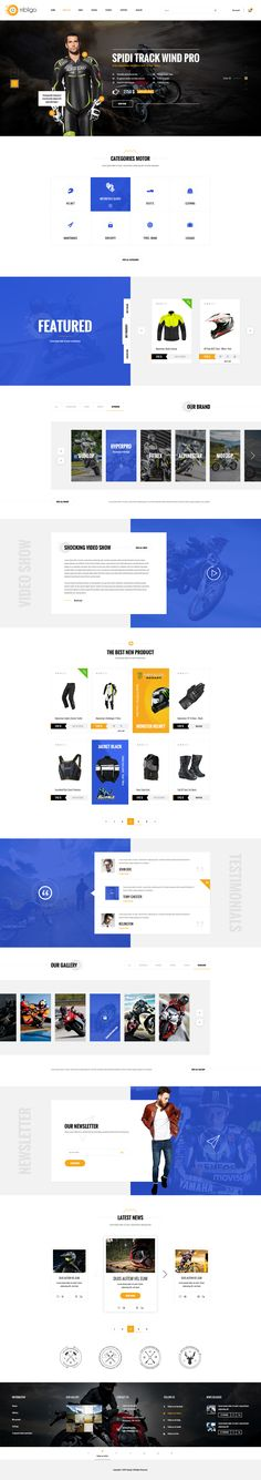 Ombligo Shop - Multi Concept Motor & Cycle PSD Templates by tonydat