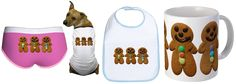 Cafepress Shop - 3 gingerbread men as motifs on various giftware items Gingerbread Men, Food Design, Boutique, Tableware, Shopping, Dinnerware, Tablewares, Dishes, Place Settings