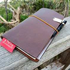 Midori Travelers Notebook and Kaweco Fountain Pen www.bookbindersonline.com.au