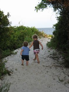 Ansley is taking her brother Gabriel, to see for the first time with his 2 year old baby eyes, the Atlantic Ocean on St Simons Island.