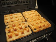 Sophie in the Kitchen: Eggless Waffles - These were so yummy! Made about 5 waffles in my waffle maker, and we ended up freezing 3. Next time, I'll halve the recipe!