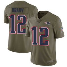 6c208c077 Nike Men s New England Patriots  12 Tom Brady Olive 2017 Salute To Service  Stitched NFL · Patriots GameJersey ...