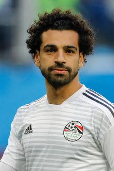 Mohamed Salah of Egypt national team during warmup ahead of the 2018 FIFA World Cup Russia group A match between Russia and Egypt on June 19 2018 at. Liverpool Uefa Champions League, Liverpool Anfield, Salah Liverpool, Liverpool Football Club, Soccer Guys, Soccer Players, Mohamed Salah Egypt, Premier League, Muhammed Salah