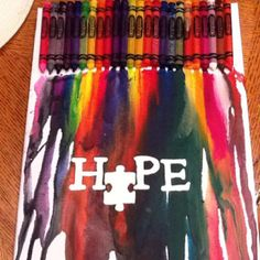 Autism awareness - I am going to try this next craft day!!!!