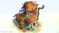 ArtStation - House sketches - Stylized, Michal Kus