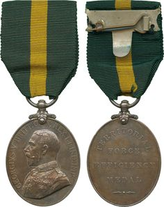 MILITARY MEDALS - TERRITORIAL EFFICIENCY MEDAL, GVR (444 L.Sgt: A. Tuttle. Suff: Yeo.)