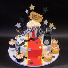 Hollywood Movie themed cake with Camera 300371 Adult Birthday Cakes, Birthday Parties, Theme Parties, Film Cake, Happy 25th Birthday, Milestone Birthdays, Creative Cakes, Luau, Themed Cakes