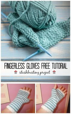 This Fingerless Gloves tutorial is great for using up your yarn stash, and makes a lovely gift. The instructions are easy and it has pictures to follow, too!